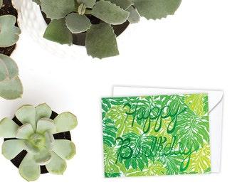 Monstera Deliciosa Birthday/Happy Birthday/Plant Birthday Card/Birthday Card