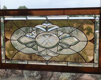 Stained Glass Window Panelrose Blushbeveled Glass