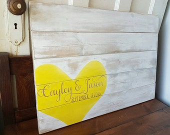 Wedding guest book- Wood guest book- Wood sign- Guest book- White wash- Weddings- Wedding decor- Custom sign- Unique guestbook- Rustic sign
