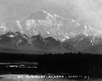 Alaska - View of Mt McKinley (Art Prints available in multiple sizes)