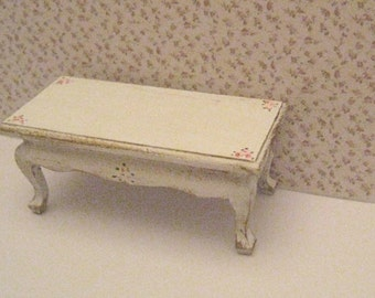 Dollhouse Coffee Table, Shabby Chic Coffee Table, Cocktail Table, Dollhouse  Furniture, Twelfth Scale, Dollshouse Miniature