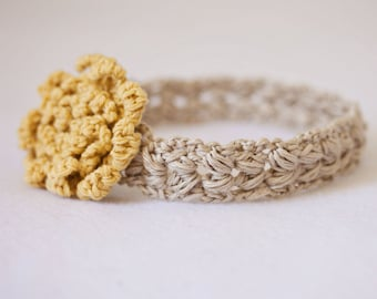 Instant download - Crochet PATTERN (pdf file) - Sun Flower Headband (sizes - baby to adult)