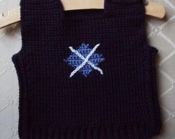 Download Now - CROCHET PATTERN Argyle Vest  - Newborn to 12 yrs - Pattern PDF