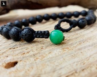 Macrame Lava Shamballa Bracelet, Lava Rock Men's Bracelet, Gemstone Beaded Bracelet for Men, Bracelet Men's Macrame, Macrame Jewelry