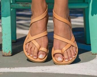 Sandales Compensées En Cuir Helene Anciens Sandales Grecques msGlV3E