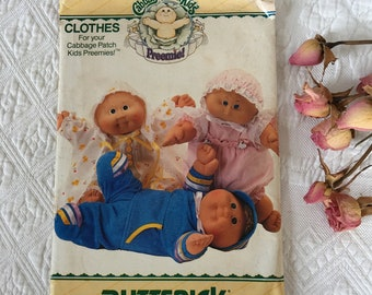 Craft Cabbage Patch Kids Preemie Pattern. Pattern for Coat and Dress, Top, Pants and Cap, Blouse, Panties and Bonnet. 1986 Pattern # 4331.