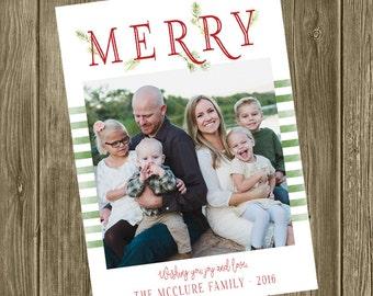 Photo Christmas Card - MERRY