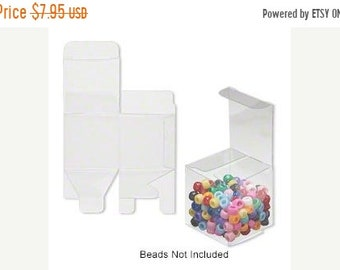 Mothers Day Sale 20 Pack Clear Plastic Tuck Top Style Packaging Retail Gift Boxes 2X2X2 Inch Size