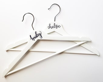 Bridesmaid Hangers • Wedding Party Gift • Bridal Party • Custom Hangers
