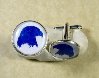 Eagle Cufflinks, Eagle Gifts, Eagle Jewelry for Him, Eagle Accessories, Eagle Mens Gifts, Cufflinks with Eagle, American Eagle