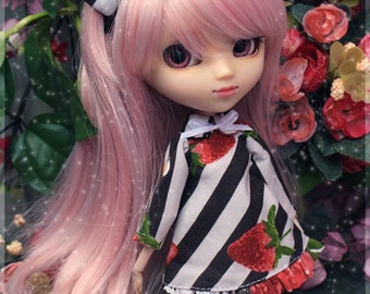Doll Dress Strawberry Cute