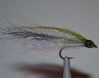 3 Emerald Shiner Flies, Handmade flies, Trout flies, Steelhead flies, Baitfish flies, Fly fishing, Flies