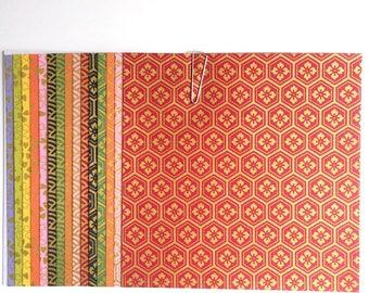 Japanese WASHI paper Origami YUZEN Chiyogami 15 sheets, 12x12cm (Y006)