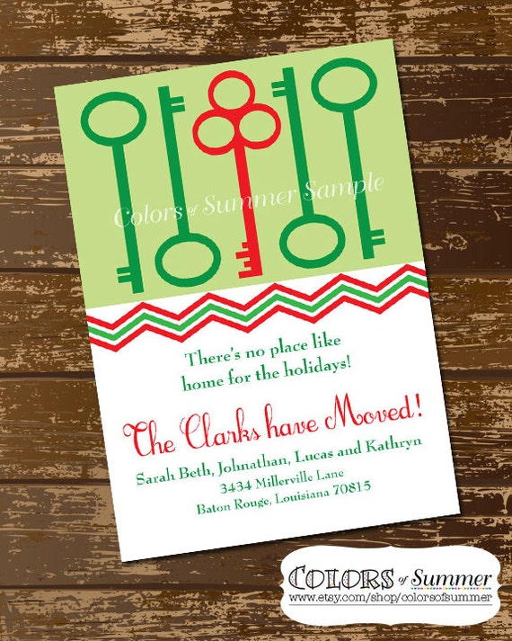 Holiday moving announcement christmas moving card new home holiday moving announcement christmas moving card new home for the holidays greeting card red and greek keys printable digital file m4hsunfo Choice Image