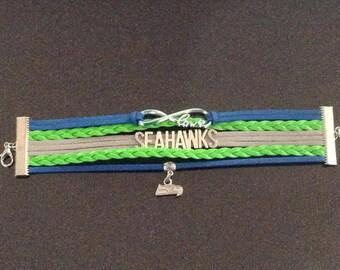 Seahawks infinite love bracelet-Royal blue