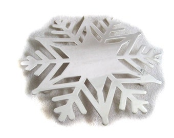 Coasters, silver-plated, tarnish-proof, mirror polished- motif snowflake *