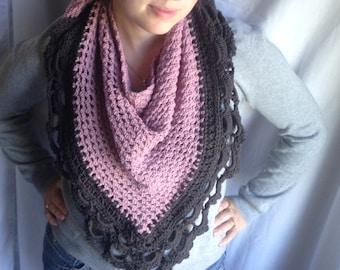 Crochet PATTERN - July Scarf, crochet shawl pattern, easy crochet neckerchief pattern, easy crochet wrap, easy shawl pattern, crochet scarf