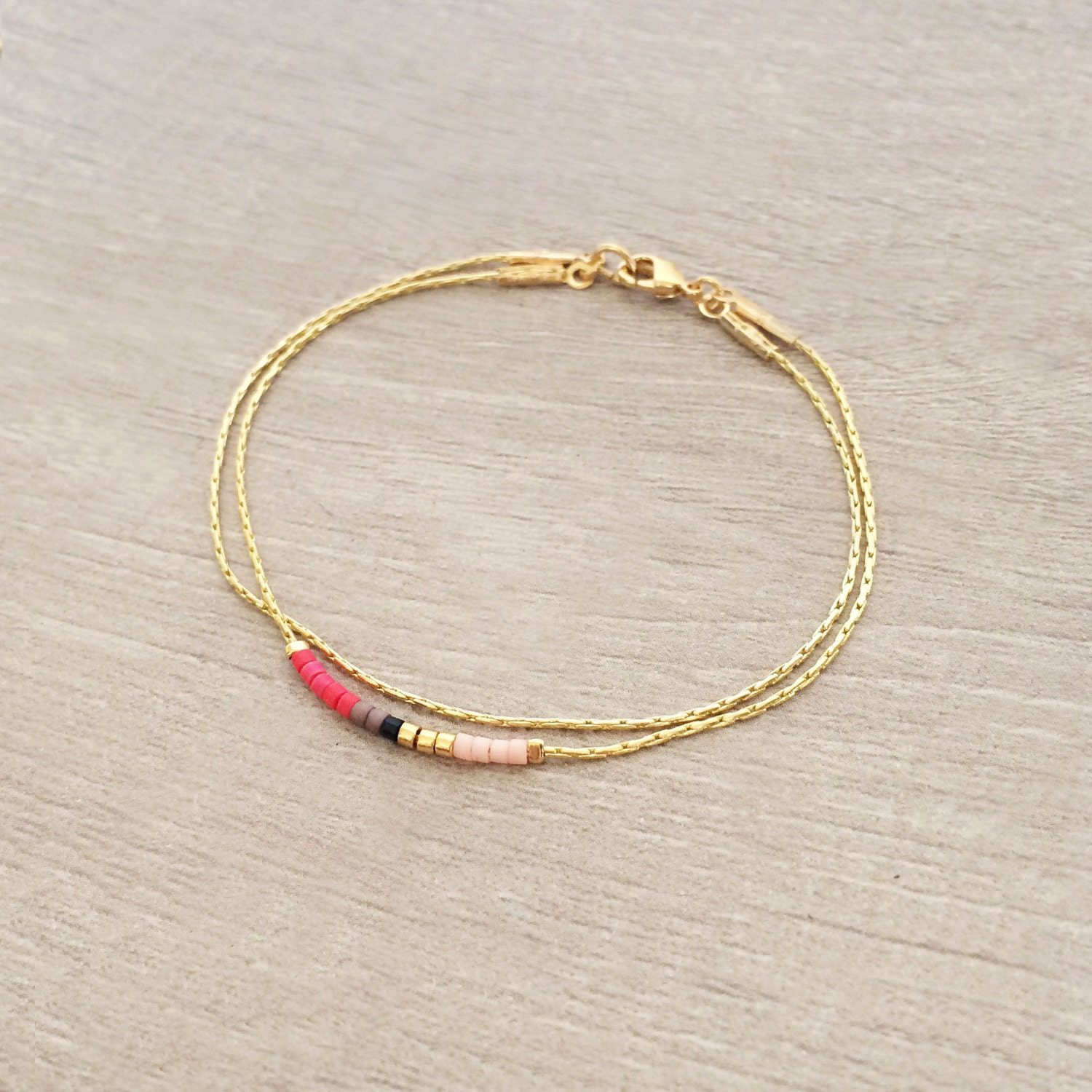 happiness bracelet bracelets gold stainless delicate en boutique steel