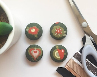 Floral Magnets, Floral Print Magnets, Refrigerator Magnets, Kitchen Decor, Office Decor, Magnets, Teacher Gift, Cubical Decor, Fridge Magnet