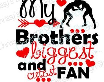 Brothers Wrestling fan svg file / wrestling svg / sports svg /  brother fan svg/ school wrestling sports / vinyl crafts / wrestling clip art