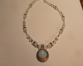 Hand made one of a kind Necklace W/Moonstone