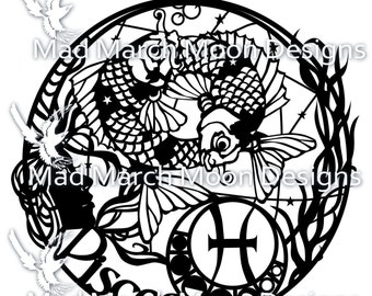 Pisces Papercut personal use TEMPLATE .PDF download