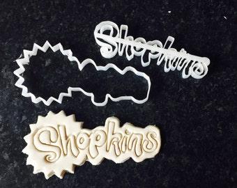 Shopkins logo Uk Seller Plastic Biscuit Cookie Cutter Fondant Cake Decorating