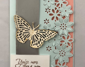 Mother's Day Card // for her // Handmade // One of a kind
