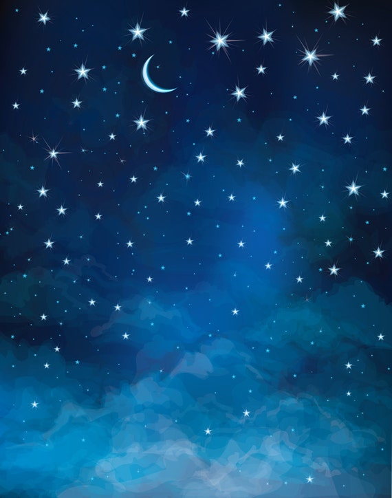 Night sky backdrop moon and star astronomy universe for Galaxy fabric canada