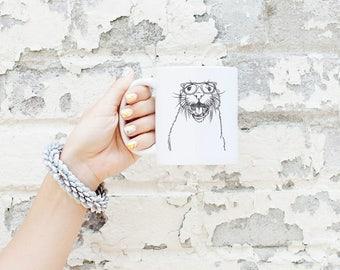 Jasper the River Otter Mug - Gifts For Animal Lover, Otter Art, Otter gift, Marine Biologist Gift