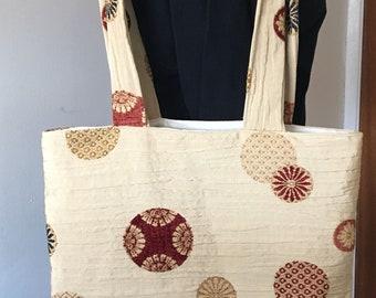 Long Handled Fabric Tote Bag