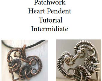 Tutorial Pendant, Pendant Heart Tutorial, Heart Pendant Tutorial, Pendant Wire Wrapped Heart Tutorial, Tutorial  Intermediate, Tutorial