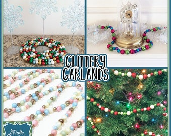 Glittery Garland for Christmas, Easter, Birthdays, Parties and More!