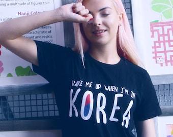 Wake Korea Black Tee