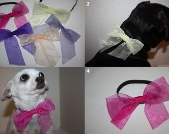 Dog Necktie Necklace - SELECT SIZE - Doggy Jewelry Neck Bow Tie