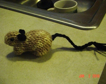 Knitted Gerbil 25 Mottled or Pied Siamese