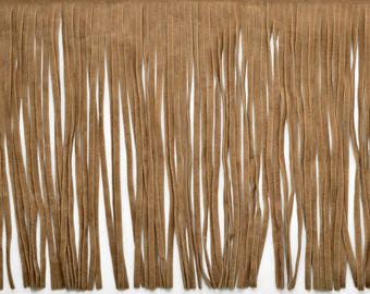 "6"" Long Faux Suede Fringe Trim by Yard, 3 colors, EXP-IR6826"