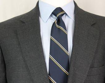 Vintage 45L Brooks Brothers Charcoal Gray Houndstooth Men's Sport Coat Blazer AP7