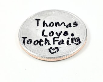 Tooth fairy coin tooth fairy for boys • Tooth fairy first tooth tooth fairy girl • Toothfairy keepsake tooth fairy money • Tooth fairy token