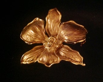 Vintage Orchid / Flower Brooch & Pendant