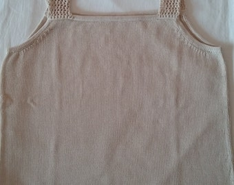 Art 13 cotton camisole with lace-up straps