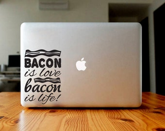 Bacon is love sticker, decal, your choice of color