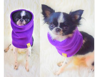 "PETiRO "" ULTRA VIOLET"" fleece snood for dog 