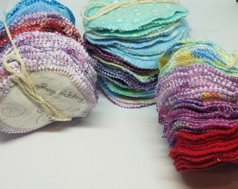 MixedColors Flannel cloth Facial rounds