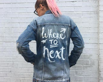 CUSTOM Hand Painted Denim Jacket