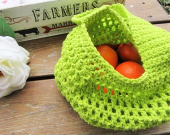 Crochet Market Bag, Farmer's Market Bag, Mesh Bag, Shopping Bag, Gift for Her, Boho Bag, Tote Bag, Reusable Bag, Eco Friendly, Handmade