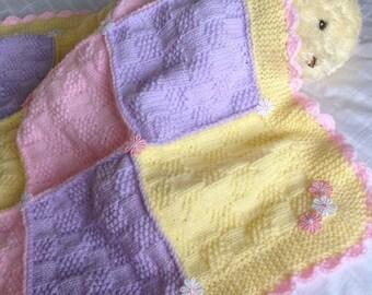 Pavlova baby blanket knitting pattern