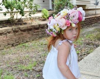Oversized flower crown / boho fflower crown / big flower crown / mixed flower crown