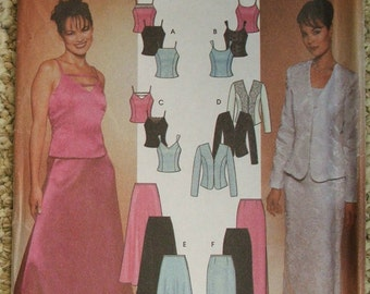 Simplicity 7010 Misses' Tops, Jacket and Flared and Slim Skirts  size 6-8-10-12
