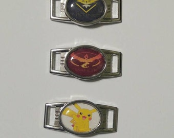 Pokemon shoelace and paracord charms 12mm by 16mm